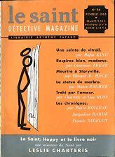 Le Saint Détective Magazine N°96 - King, Treat, Hoch, Palmer... - Février 1963