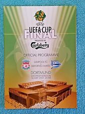 2001 - UEFA CUP FINAL PROGRAMME - LIVERPOOL v DEPORTIVO ALAVES - V.G CONDITION
