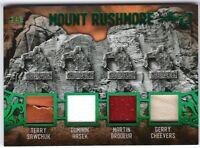 SAWCHUK HASEK BRODEUR CHEEVERS 2019-20 Leaf Ultimate Mount Rushmore 4 Swatch 2/5