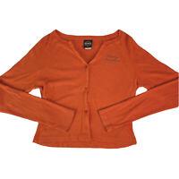 Vintage Harley Davidson Womens Long Sleeve Button T-shirt Tee California Size L