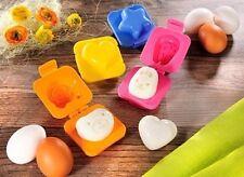 4er Set süße Party Eierformer für gekochte Eier Kinder Eier Form Büfet Frühstück