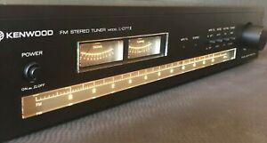 Kenwood L-07T II FM Tuner Sleek, Narrow, Rack-Mount Style, 1979