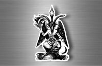 Sticker car biker satanic baphomet sabbatic 666 pagan vinyl lucifer devil