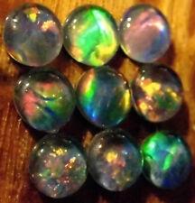 OPAL TRIPLETS 9  pcs. AUSTRALIAN 5 mm  3.6 carats  Callibrated A+ grade