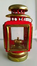 Antique Carriage light 1960s Kerosene Oil Lamp Red Vintage Lantern Collectible