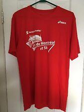 MENS MEDIUM (M) T-SHIRT RED (BANQUE SCOTIA 21K DE MONTREAL ET 5K) ASICS