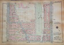1925 MORNINGSIDE HEIGHTS HARLEM CCNY MANHATTAN G.W. BROMLEY ATLAS MAP 12X17