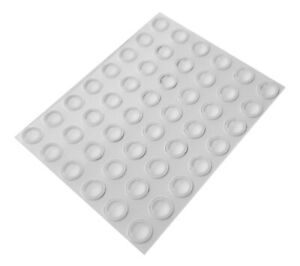48 Mini Clear Self Adhesive Domed Rubber Feet, Bumper Stops for Coasters & More