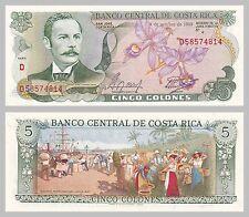 Costa Rica 5 colones 04.10.1989 p236d unz