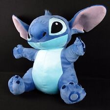 "Disney Store Lilo and Stitch Medium 20"" Sitting Blue Plush Stuffed Animal Alien"