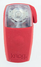 KNOG BOOMER '12 Red W/ 1 RED LED Bike Rear Light 7 Lumen 4 Mode 600m NEW