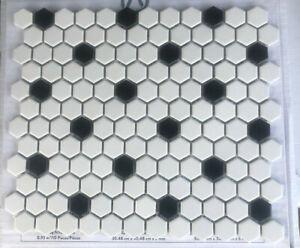 "5 American Olean Alameda Satin White 12.5""x10.5""  Honeycomb Mosaic Tile"