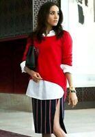 $895.00 Altuzarra Faun Striped Royal Megan Markle Dress Skirt US 0 2 / FR 34