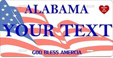 Alabama Flag License Plates Tag Personalized Auto Car Custom VEHICLE OR MOPED