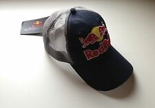 New Rare Red Bull Adjustable Sport Truck Cap/Hat in Navy Blue Color