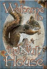 """Welcome to The Nut House Novelty 2"""" x 3"""" Metal Refrigerator Toolbox Magnet"""