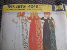 McCALLS 4248 SEWING PATTERN Vintage MISSES TOP PANTS DRESS Misses SZ 12 OOP 1974