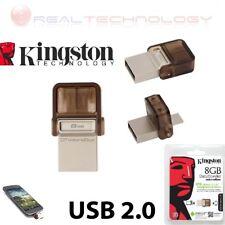 PEN DRIVE  MICRODUO 2.0 8GB KINGSTON USB 2.0 PER TABLET SMARTPHONE DTDUO/8GB