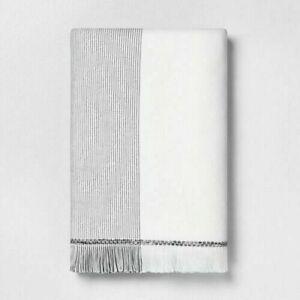 Bath Towel Fringe Microstripe Gray by Hearth & Hand with Magnolia