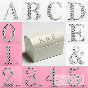 Self Adhesive 3D Numbers & Letters 5cm Large Diamante Glitter Stickers Craft