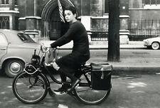 Photo Argentique Solex Vélomoteur Candice Patou Hossein 1964