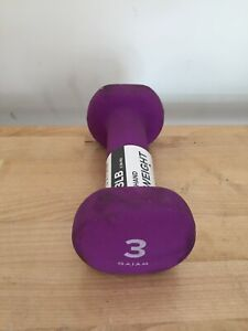 Neoprene Hex 3 Lb Dumbbell SINGLE! used Hand Weight Purple