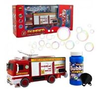 BUBBLE FIRE ENGINE TRUCK ELECTRIC TOY WITH LIGHTS SOUNDS BIRTHDAY PARTY UK
