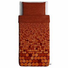 Ikea Smorboll Duvet Cover Pillowcase Set, Orange dots, Twin Size, 100% Cotton