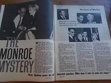 Vtg PHOTOPLAY Mag Mar 61 Marilyn Monroe PECK NIVEN QUINN  60s Film Stars VGC