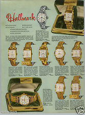1952 PAPER AD 4 PG Hallmark Wrist Watch 17 Ruby Jewels Calendar Rotomatic