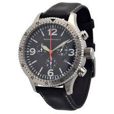 Analoge Armbanduhren im Flieger-Stil mit Chronograph und mattem Finish