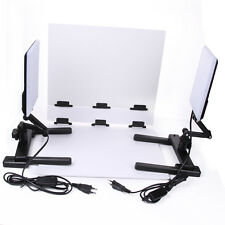 CN-T96 5600K 2X LED Light Lamps w/ Mini Shooting Table Background Paper Kit Set