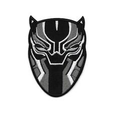 """BLACK PANTHER IRON ON PATCH 4"""" Comic Superhero Mask Embroidered Applique Avenger"""