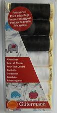 GUTERMANN  SEW-ALL ' BLACK AND WHITE ' THREAD SET/PACK