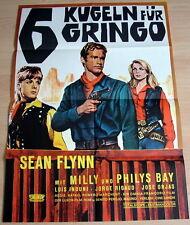 Sean Flynn 6 KUGELN FÜR GRINGO original Kino Plakat A1