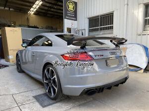 Audi tt tts ttrs performance 8s carbon fiber wing spoiler gt bar body kit lip