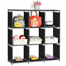 3 Tier Storage Cube Closet Organizer Shelf 6/9 Cube Cabinet Bookcase Storage US