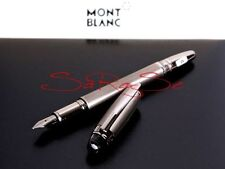MONTBLANC STARWALKER FÜLLER MIDNIGHT BLACK METAL FOUNTAIN PEN MONT BLANC