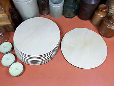 WOODEN CIRCLES Shapes 12.5cm (x10) laser cut wood cutouts crafts blank shape