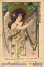 Art Nouveau - Kieszkow - Angel Musician Ange Musicien - L057