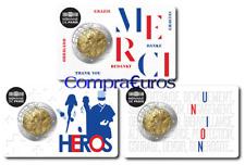 3 x 2 Euros Conmemorativos FRANCIA 2020 *Investigación Médica* BU Coincards