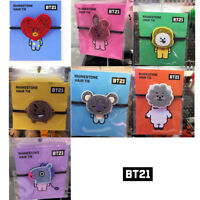 BTS BT21 Official Authentic Goods RHINESTONE Hair Tie COOKY TATA CHIMY KOYA Etc