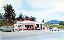Rogersville TN Winstead's Esso Gas Station Coke Machine Old Cars Postcard