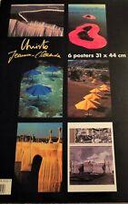 Christo & Jeanne-Claude Lot 6 Posters W/ Folder Descriptions Umbrellas Islands