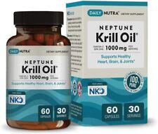 60 softgels Neptune Krill Oil 1000mg High Absorption Omega-3 EPA DHA Astaxanthin