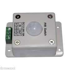 8A DC12-24 VOLT Infrared PIR ON/OFF LED Lighting Motion Sensor Switch For Strip