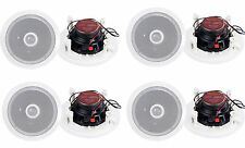 """8) Pyle PDIC60 6.5"""" 250W 2 Way Round In Wall/Ceiling Home Speakers System Audio"""
