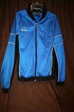 Kelme Futbol Global Training Blue Track Jacket Soccer Fitness Full Zip Small