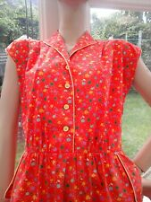 LADIES FUNKY VINTAGE RED DRESS