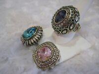 """HEIDI DAUS """"Enchante"""" (Pink) Magnetic Pendant (Size 12) Ring Set (HSN-$159.95)"""